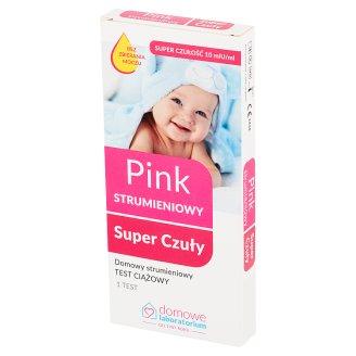 Domowe Laboratorium Pink Domowy test ciążowy strumieniowy super czuły