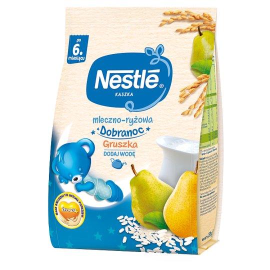 Nestlé Dobranoc Kaszka mleczno-ryżowa gruszka po 6 miesiącu 230 g