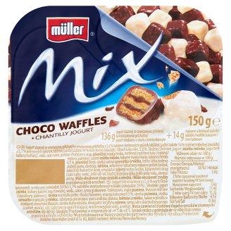 Müller Mix Jogurt śmietankowy z wafelkami w czekoladzie 150 g