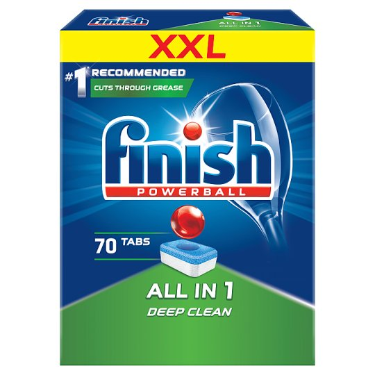 Finish All in 1 Dishwasher Detergent in Tabs 1120 g (70 Pieces)