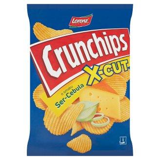 Crunchips X-Cut Cheese-Onion Flavour Riffled Potato Crisps 140 g