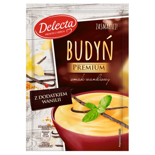 Delecta Premium Pudding Vanilla Flavour with Vanilla Additive 47 g