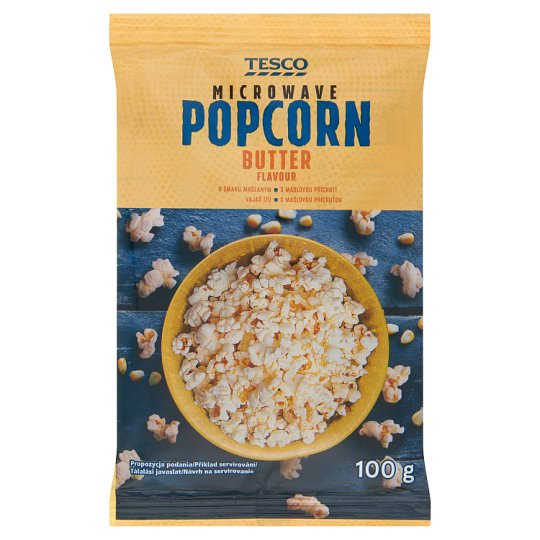Tesco Butter Flavour Microwave Popcorn 100 g