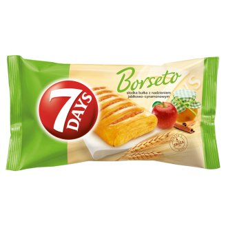 7 Days Borseto Sweet Roll with Apple and Cinnamon Filling 80 g