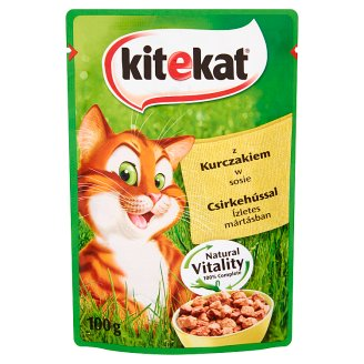 Kitekat Complete Food for Adult Cats with Chicken in Sauce 100 g