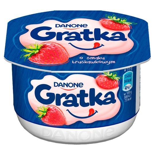 Danone Gratka Strawberry Flavour Dessert 115 g