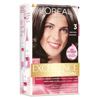 L'Oréal Paris Excellence Creme Farba do włosów 3 Ciemny brąz