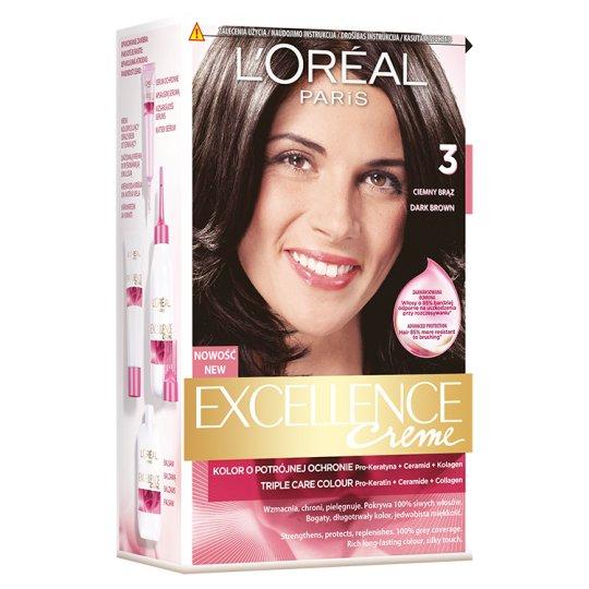 L'Oréal Paris Excellence Creme 3 Dark Brown Colouring Cream