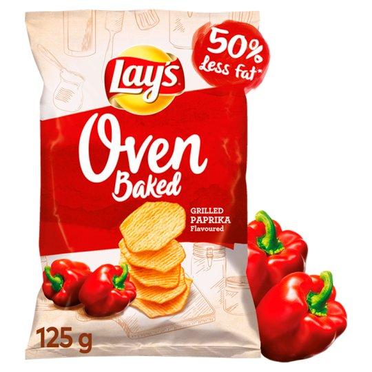 Lay's Oven Baked Pieczone formowane chipsy ziemniaczane o smaku grillowanej papryki 125 g