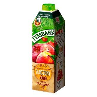 Tymbark Sok 100% tłoczony z jabłek z brzoskwinią z witaminą C 1 l