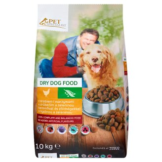 Tesco Pet Specialist Rings with Poultry and Vegetables Dry Food for Adult Dogs 10 kg