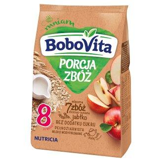 BoboVita Porcja Zbóż 7 Grains Grain-Oat Milk Porridge Apple Flavoured after 8 Months Onwards 210 g