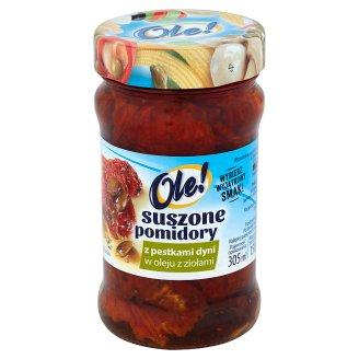 Ole! Suszone pomidory z pestkami dyni w oleju z ziołami 270 g