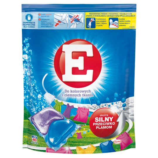 E Duo-Caps Color Washing Capsules 800 g (40 Pieces)
