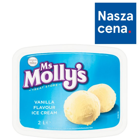Ms Molly's Vanilla Flavour Ice Cream 2 L