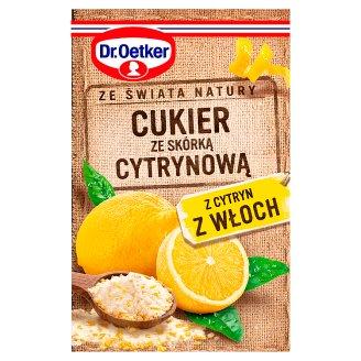 Dr. Oetker Ze świata natury Cukier ze skórką cytrynową 15 g