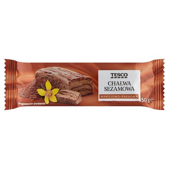 Tesco Chałwa sezamowa waniliowo-kakaowa 50 g