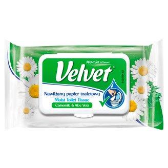 Velvet Nawilżany papier toaletowy rumianek i aloes 42 sztuki