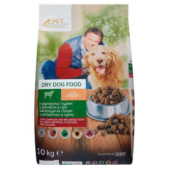 Tesco Pet Specialist Karma dla dorosłych psów granulki z jagnięciną i ryżem 10 kg