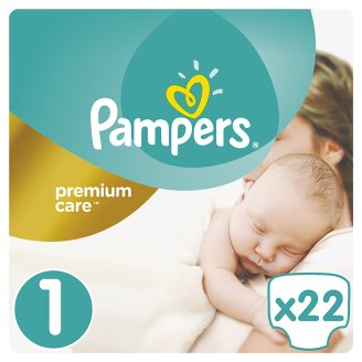 Pampers Premium Care Size 1 (Newborn) 2-5kg, 22 nappies