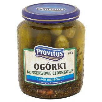 Provitus Ogórki konserwowe czosnkowe 640 g