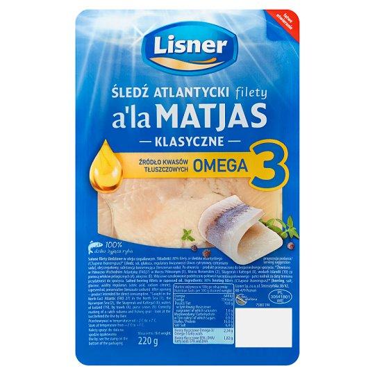 Lisner Śledź atlantycki filety a'la Matjas klasyczne 220 g