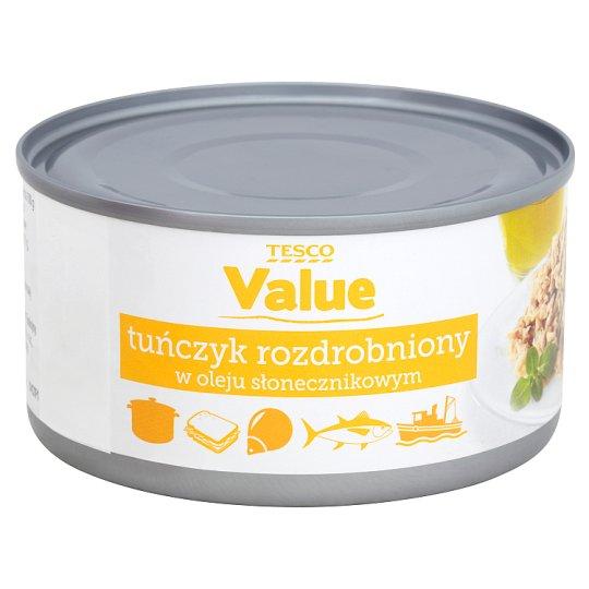 Tesco Value Tuńczyk rozdrobniony w oleju słonecznikowym 185 g