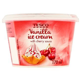 Tesco Vanilla with Cherry Sauce Ice Cream 90 g