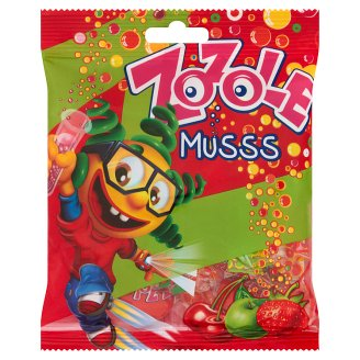 Zozole Musss Apple Strawberry and Cherry Flavoured Caramels with Fizzy Filling 75 g