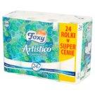 Foxy Artistico Natural White Toilet Paper 24 Rolls
