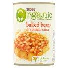Tesco Organic Pieczona fasola w sosie pomidorowym 420 g