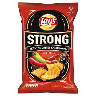 Lay's Strong Pikantne chipsy karbowane o smaku ostre chilli 150 g