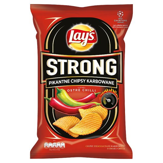 Lay's Strong Hot Chili Flavoured Spicy Corrugated Crisps 150 g