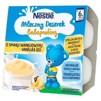 Nestlé Mleczny Deserek o smaku waniliowym po 6 miesiącu 400 g (4 sztuki)