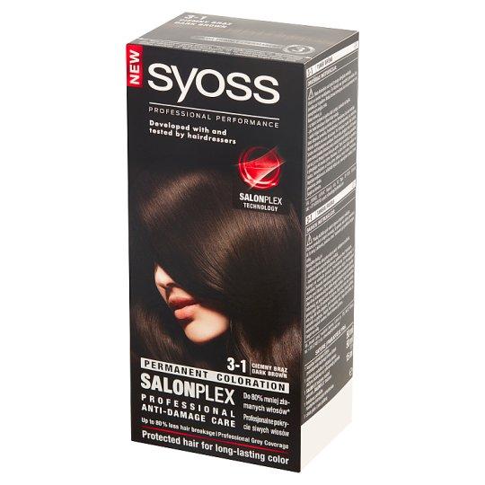 Syoss SalonPlex Farba do włosów ciemny brąz 3-1