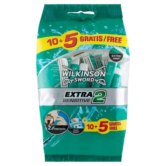 Wilkinson Sword Extra2 Sensitive Disposable Razors 15 Pieces