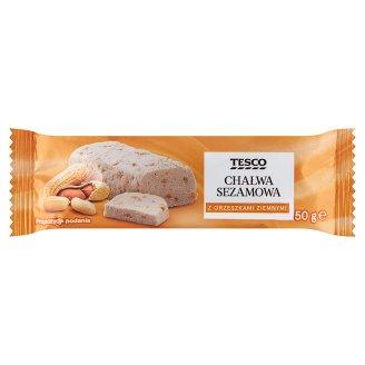 Tesco Chałwa sezamowa z orzeszkami ziemnymi 50 g