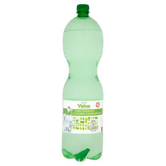 Tesco Value Lemon Flavour Carbonated Drink 2 L