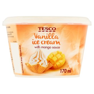 Tesco Vanilla with Mango Sauce Ice Cream 90 g