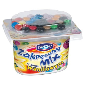 Danone Zakręcony Mix Vanilla Flavour Yoghurt 125 g