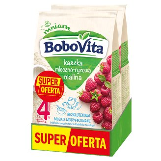 BoboVita Milk and Rice Porridge Raspberry Flavour after 4 Months Onwards 2 x 230 g