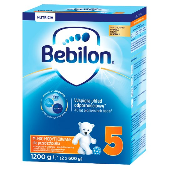 Bebilon Junior 5 with Pronutra+ Powdered Milk for Preschooler 1200 g (2 Pieces)