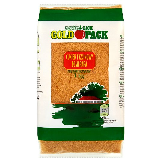 NATÜRLICH GOLDPACK Demerara Unrefined Cane Sugar 1 kg