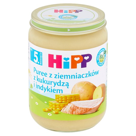 HiPP BIO Potatoes Puree with Corn and Turkey after 5. Months Onwards 190 g