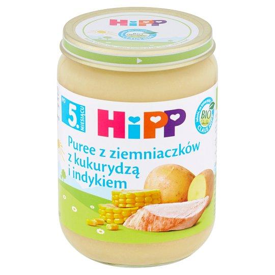 HiPP BIO Puree z ziemniaczków z kukurydzą i indykiem po 5. miesiącu 190 g