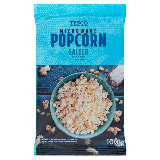 Tesco Popcorn solony do przygotowania w kuchence mikrofalowej 100 g