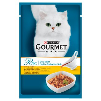 Gourmet Perle Gravy Delight with Chicken Complete Pet Food for Adult Cats 85 g