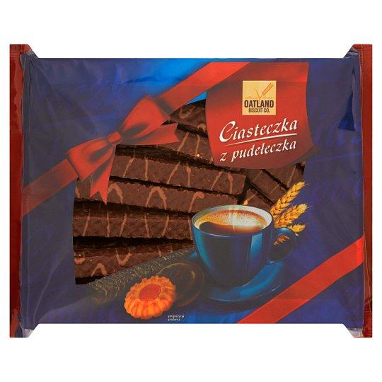 Oatland Biscuit Co. Ciasteczka z pudełeczka Wafle z kremem kakaowym w polewie kakaowej 700 g
