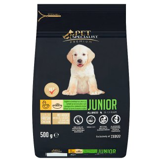 Tesco Pet Specialist Premium Granules with Chicken and Rice Food for Junior Dogs 500 g