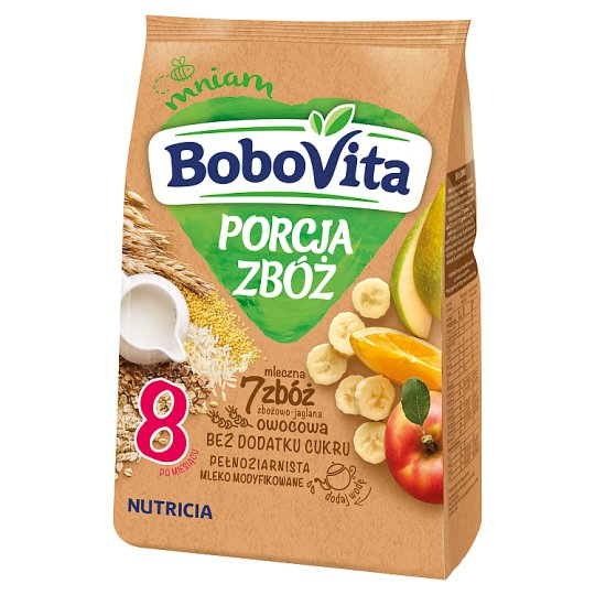 BoboVita Porcja Zbóż 7 Grains Grain-Millet Milk Porridge Fruit after 8 Months Onwards 210 g